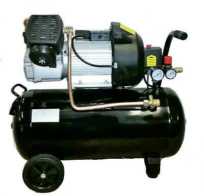 50 Litre Air Compressor - 14CFM, 3HP, 50L Twin Piston Direct Drive