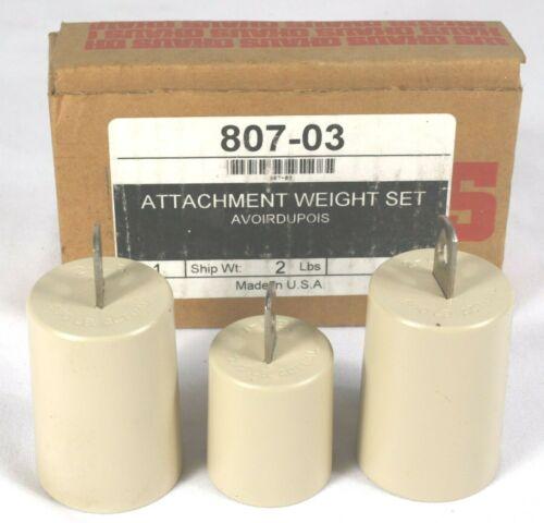 Ohaus Triple Beam Hook Weights 807-03 Avoirdupois (Pounds/Ounces) NIB Set of 3