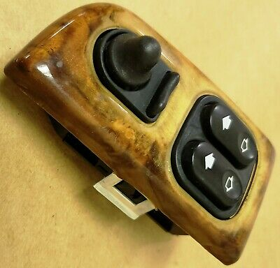 97-02 Jaguar Xk8 Left Master Window And Mirror Switch With Maple Wood Trim