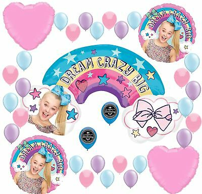 JOJO SIWA Party Supplies Birthday Balloon Decoration Bundle For (Big XL Ballo...