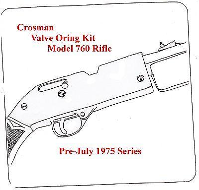 Crosman 760 Air Rifle Pre-July 1975 Series TUNE-UP VALVE O-RING SEAL KIT