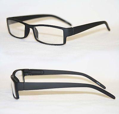 Nerd Brille classic flacher Rahmen matt oder glänzend schwarz Sonnenbrille 242