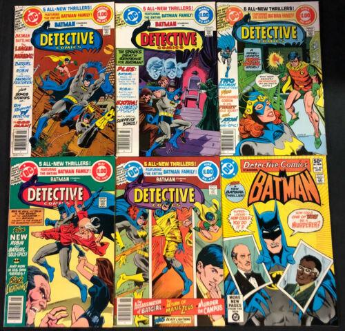 BATMAN STARRING IN DETECTIVE COMICS BRONZE AGE LOT 6PC (VF)