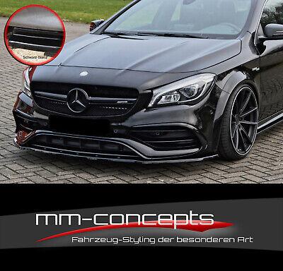 CUP Spoilerlippe SCHWARZ für Mercedes A CLA W176 45 AMG Frontspoiler Schwert