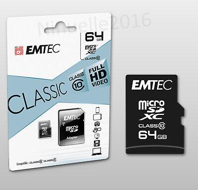 64 GB Micro sd Speicherkarte für Samsung Galaxy S7, S8, S9 Edge Class 10 Full HD