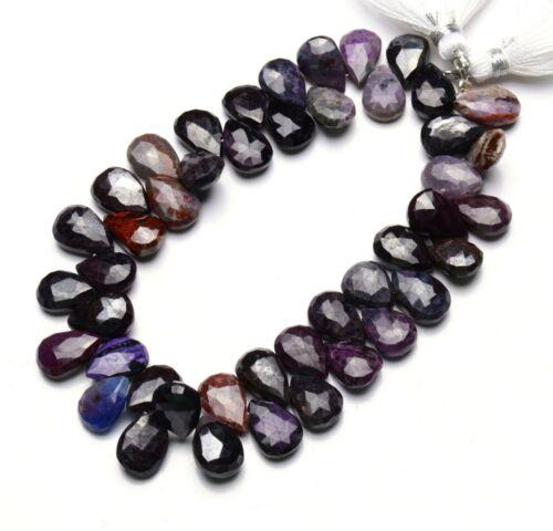"Natural Sugilite Gem 12x8MM Size Faceted Pear Shape Briolettes 8.5"" Strand 160Ct"