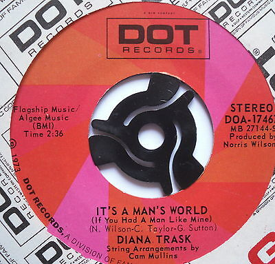 "DIANA TRASK - It's A Man's World - Excellent Condition 7"" Single Dot DOA-17467"