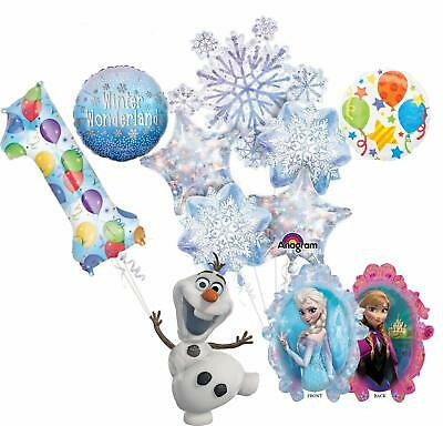 Party De Frozen (Frozen Party Supplies 10 pc Winter Wonderland 1st Birthday Balloon Bouquet)