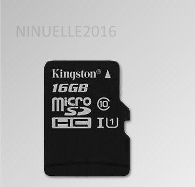 Kingston Handy Speicherkarte  Microsd micro sd SDHC 16GB Klasse 10 16 GB 80 MB/s