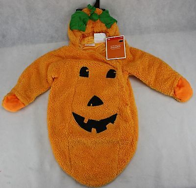 Halloween Infant Pumpkin Bunting Costume Size XSmall 0-9 Months 6-20 lbs NWT - Infant Pumpkin Costumes