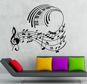 Wall Stickers Vinyl Decal Classical Music Sheet Cool Room Decor Ig1783 Ebay