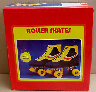 Roller Skates Vintage / Retro 70s 80s (Size: 32) - NEW - Yellow, Blue, Red