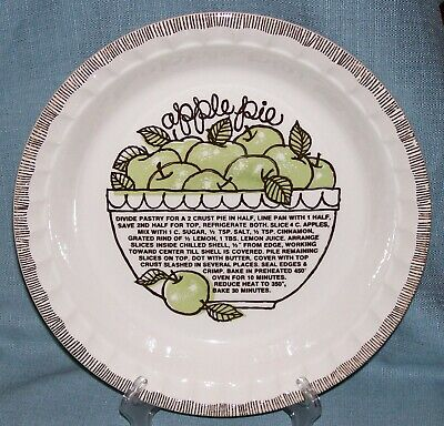Vintage Royal China Jeannette-Deep Dish APPLE Pie Plate/ Baker w/ Recipe EVUC #2 Deep Dish Apple