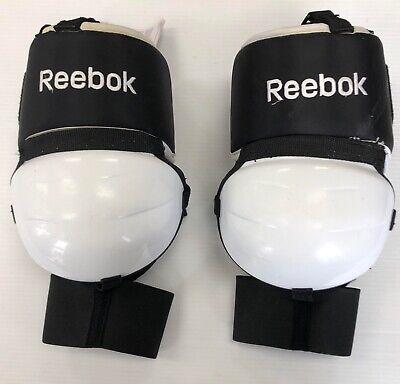 acb32a7ec2b New Reebok Revoke Senior Hockey Goalie knee thigh Protectors black goal  TPREVP