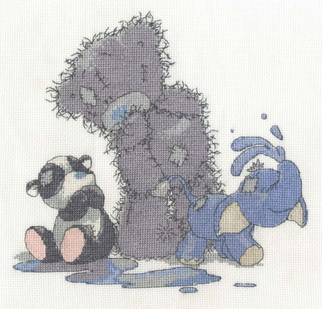 "DMC Tatty Teddy & Peanuts Cross Stitch Kit ""Making a Splash"""