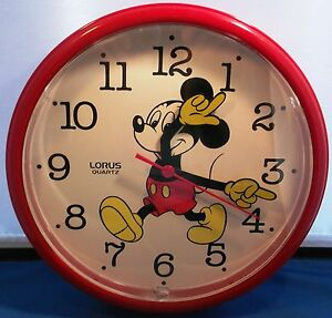 Vintage Mickey Mouse Wall Clock Ebay