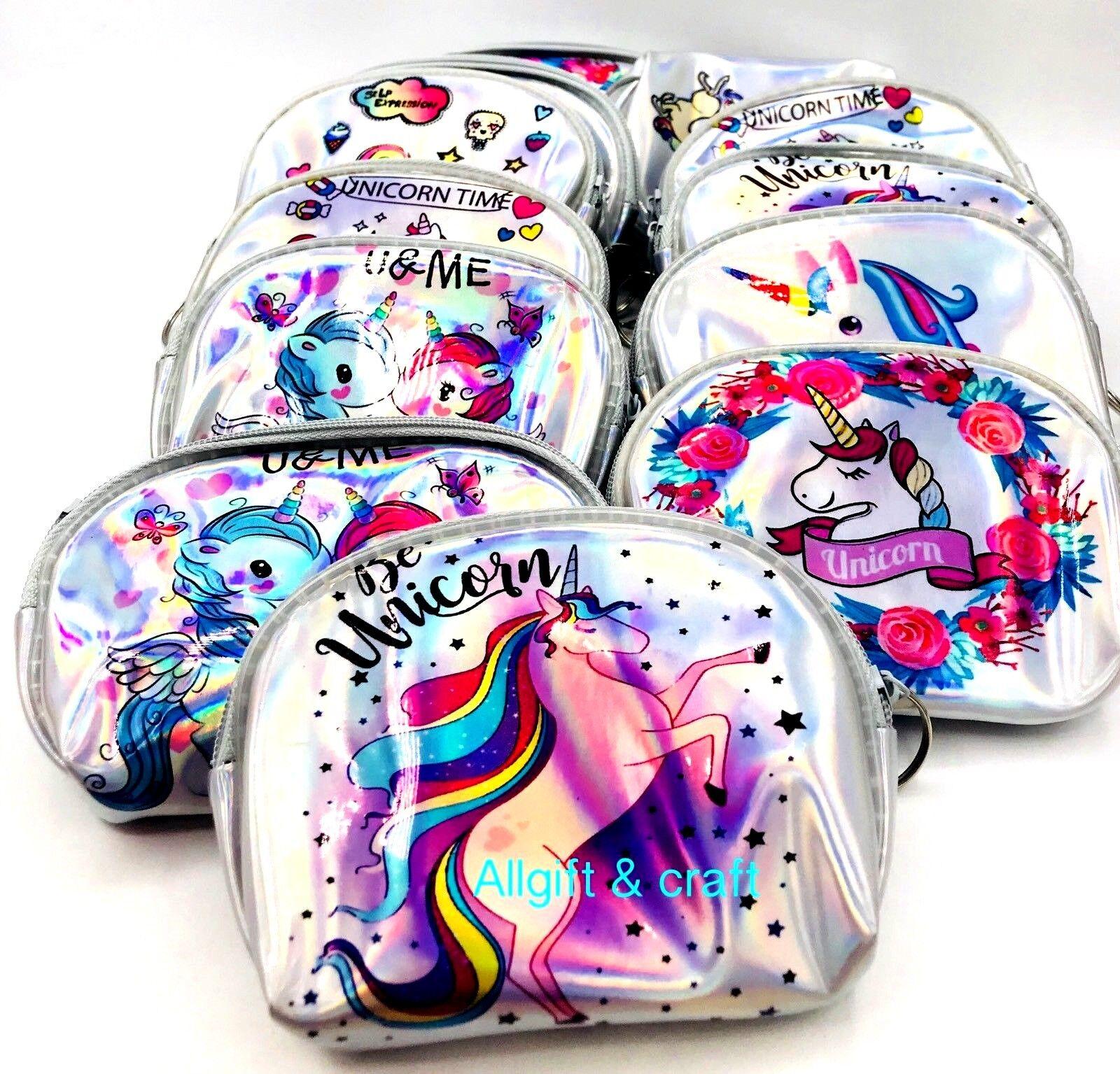 12pcs lot Unicorn Theme Zipper Pouch Bag Party FAVORS Girls