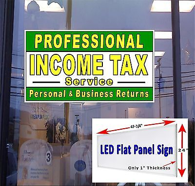 Professional Income Tax Service 48x24 Led Window Sign Neon Banner Alter