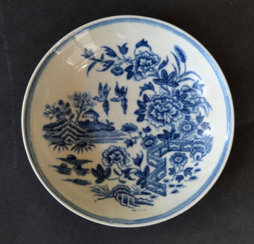 Dr. Wall Worcester Fence Pattern Saucer