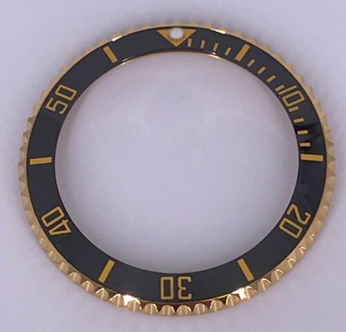 ROTATING BEZEL ROLEX SUBMARINER WITH CERAMIC INSERTS IN SS, IP GOLD AND DLC COAT