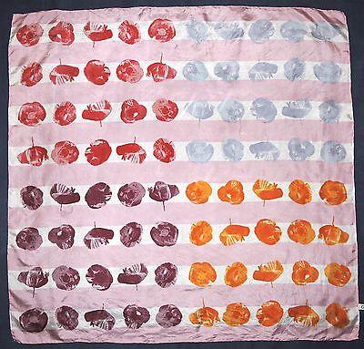 "Chic GIADA Pink Andy Warhol Style POP ART Poppy Red Orange Blue Silk 33"" Scarf"