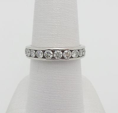 Zales 1CT Round Diamond Cut Anniversary Wedding Band Ring 14K White Gold