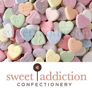 1kg Conversation Hearts - Bulk Lollies Wedding Candy Buffet Love Sweet Addiction
