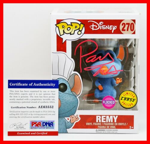 Patton Oswalt Remy Signed Autographed Flocked Ratatouille Chase Funko POP PSA