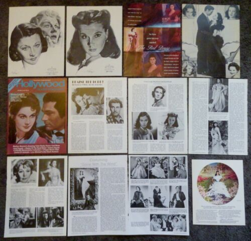 Very Nice Large VIVIEN LEIGH Clippings Collection Gone With The Wind