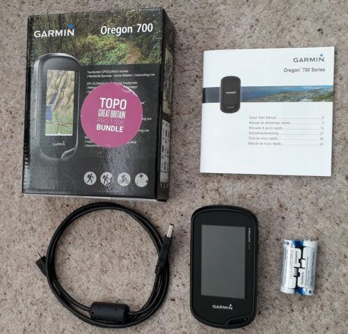 Garmin Oregon 700 Handheld GPS Topo GB Pro 1:50K OS Map, USB Cable, Box Mint