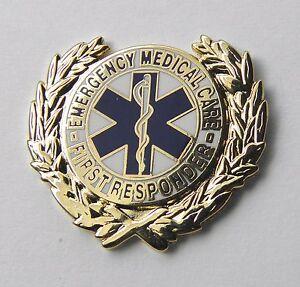 EMT EMERGENCY MEDICAL CARE FIRST RESPONDER EMS WREATH LAPEL PIN BADGE 1 INCH