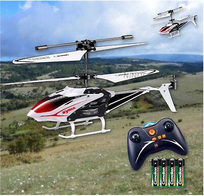 RC Heli Ferngesteuerter Hubschrauber mit Gyro LED 3 Ch. Syma S5 mit Akku weiß