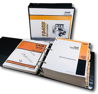 Case 1845b Uniloader Skidsteer Service Manual Parts Catalog Set