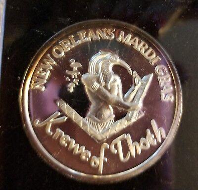 Thoth  1999   999 Fine Silver New Orleans Mardi Gras Doubloon F955