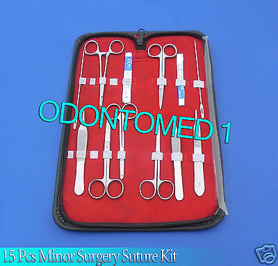 15 Pcs Minor Surgery Dissection Suture Laceration Kit Surgical Instrument Ds-809
