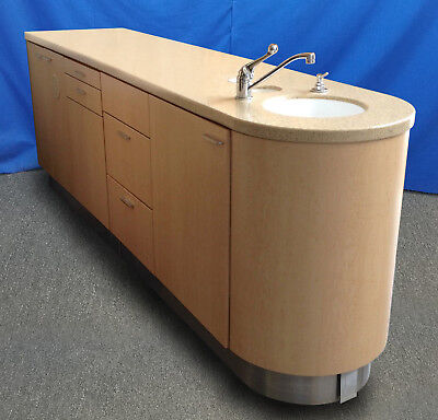 European Design Midmark Dental Center Island Cabinet W Solid Surface And Sink