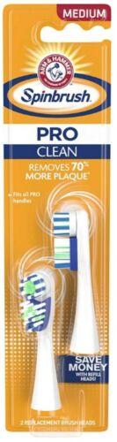 ARM & HAMMER Spinbrush Pro-Clean Replacement Brush Heads, Medium 2 ea