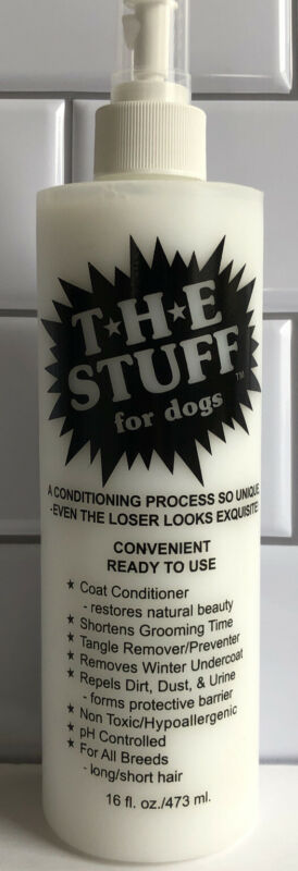 THE STUFF for Dogs Ready To Use Coat Conditioner, Hypoallergenic all breeds 16oz