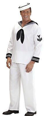 WIM 57721 Matrose Seemann Marine Schiff Navy Karneval Herren Kostüm weiß