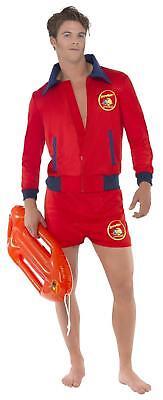 MENS BAYWATCH COSTUME ADULT DAVID HASSELHOFF BEACH LIFEGUARD FANCY DRESS UNIFORM (David Hasselhoff Baywatch Kostüm)