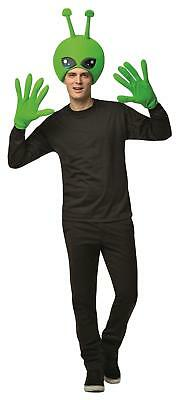 MENS ALIEN KIT COSTUME ADULT STAG MARTIAN OUTFIT EXTRA TERESTRIAL HEAD & GLOVES