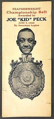 1922 Joe Kid Peck American Legion Georgia Featherweight Champion Envelope Boxing
