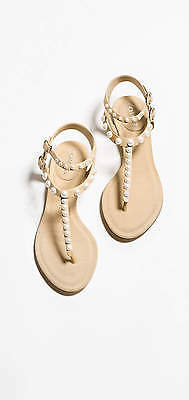 Chanel pearl lambskin sandals, NEW