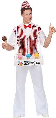 WIM 68593 Eismann Nostalgie Retro Vintage 50er 60er Karneval Herren Kostüm ()