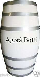 Botti botte per arredamento 100 litri bianca e con cerchi for Botti per arredamento