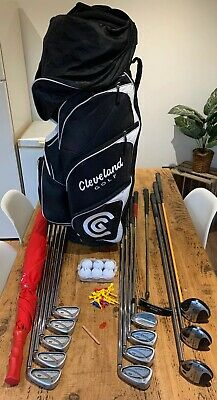 Wilson Fat Shaft Mens Full Set Of Golf Clubs & Bag- Callaway Woods /Cleveland