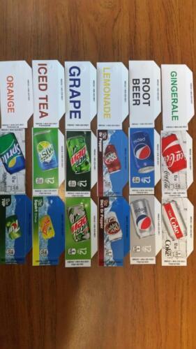 FLAVOR STRIPS 12oz CAN  PEPSI COKE SODA Vending Machine (18) LABELS