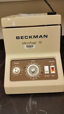 Beckman Microfuge 12 Bench Top Centrifuge With 36 Place Rotor