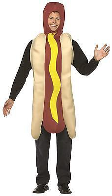 ADULTS HOT DOG COSTUME MENS LADIES UNISEX STAG NIGHT JUNK FOOD JOKE FANCY (Junk Food Kostüm)