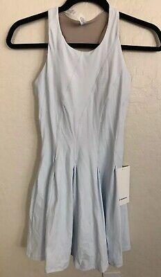 NWT Lululemon Size 2 Court Crush Tennis Dress ALMB Pale Blue $128
